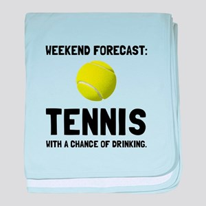 Weekend Forecast Tennis baby blanket