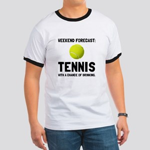 Weekend Forecast Tennis T-Shirt