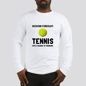 Weekend Forecast Tennis Long Sleeve T-Shirt
