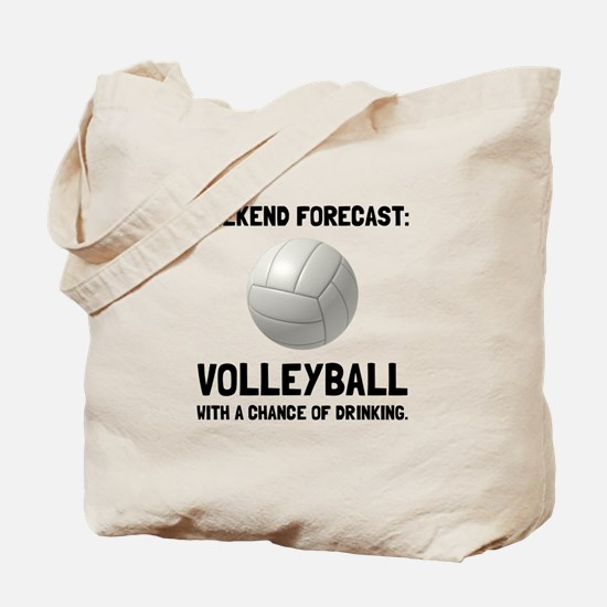 Weekend Forecast Volleyball Tote Bag