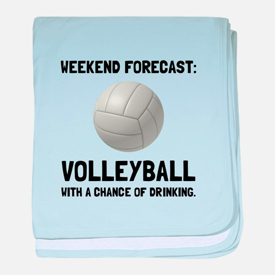 Weekend Forecast Volleyball baby blanket