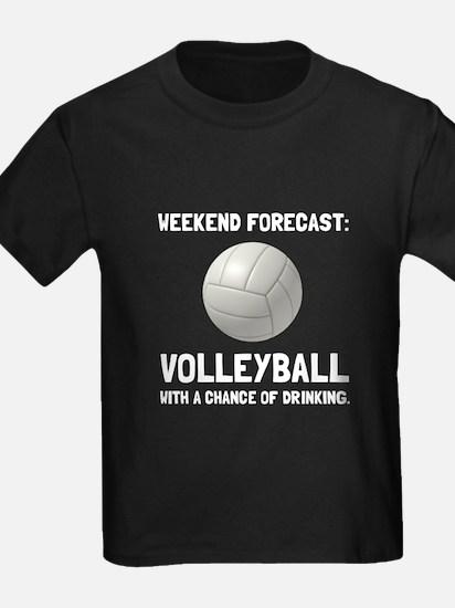 Weekend Forecast Volleyball T-Shirt