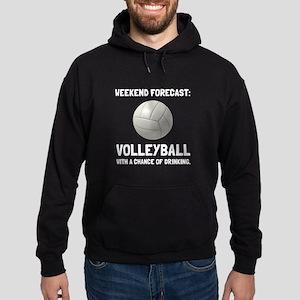 Weekend Forecast Volleyball Hoodie