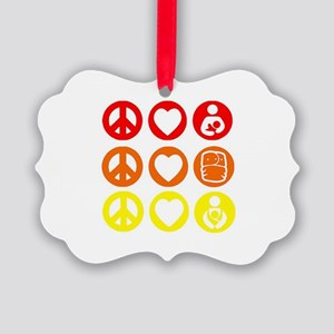 Peace Love and everything! Picture Ornament