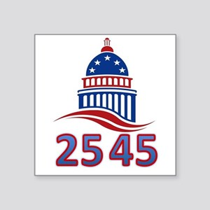 "25th Amendment the 45th Pre Square Sticker 3"" x 3"""