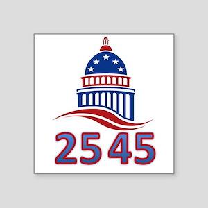 """25th Amendment the 45th Pre Square Sticker 3"""" x 3"""""""
