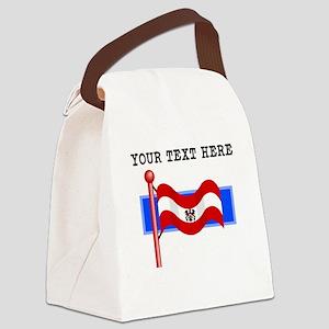 Custom Old Austria Flag Canvas Lunch Bag