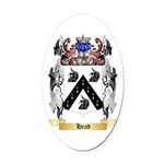 Head Oval Car Magnet