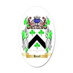 Hazel Oval Car Magnet