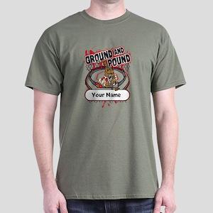 Custom Ground and Pound MMA Dark T-Shirt