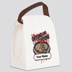 Custom Ground and Pound MMA Canvas Lunch Bag