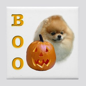 Pomeranian Boo Tile Coaster