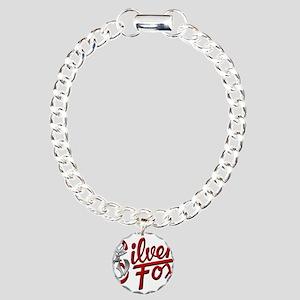 Silver Fox Charm Bracelet, One Charm