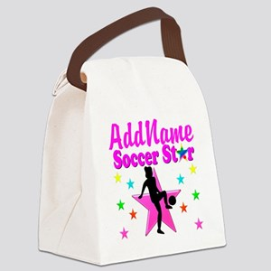 SOCCER PLAYER Canvas Lunch Bag