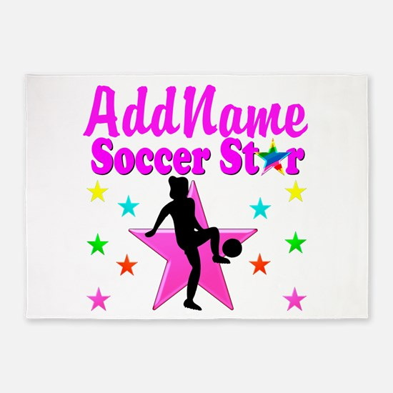 SOCCER PLAYER 5'x7'Area Rug