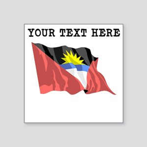 Custom Antigua Flag Sticker