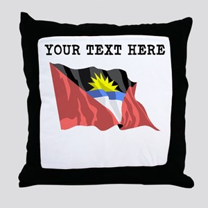 Custom Antigua Flag Throw Pillow