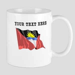 Custom Antigua Flag Mugs