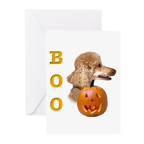 Poodle (Apr) Boo Greeting Cards (Pk of 10)