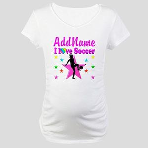 SOCCER PLAYER Maternity T-Shirt