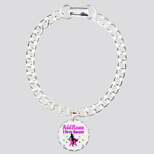 SOCCER PLAYER Charm Bracelet, One Charm