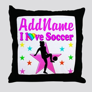 SOCCER PLAYER Throw Pillow