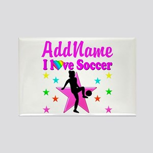 SOCCER PLAYER Rectangle Magnet