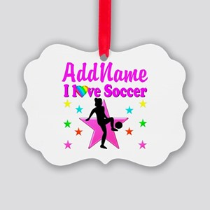 SOCCER PLAYER Picture Ornament