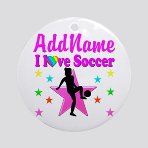 SOCCER PLAYER Ornament (Round)