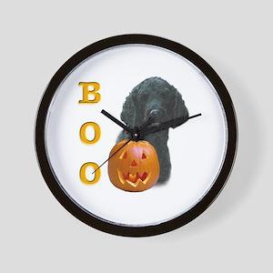 Poodle (Blk) Boo Wall Clock