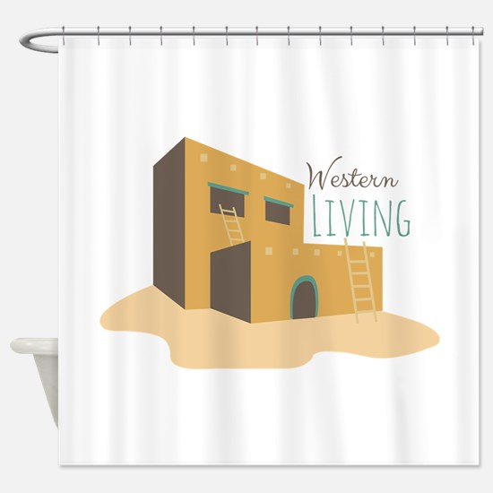 Western Living Shower Curtain