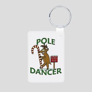 Funny Dancer Christmas Reindeer Pun Keychains