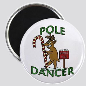 Funny Dancer Christmas Reindeer Pun Magnets