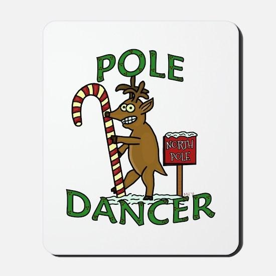 Funny Dancer Christmas Reindeer Pun Mousepad