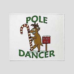 Funny Dancer Christmas Reindeer Pun Throw Blanket