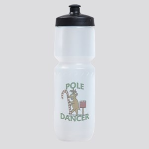 Funny Dancer Christmas Reindeer Pun Sports Bottle