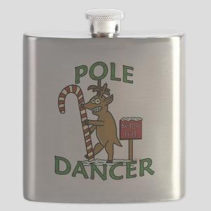 Funny Dancer Christmas Reindeer Pun Flask
