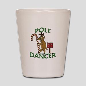 Funny Dancer Christmas Reindeer Pun Shot Glass
