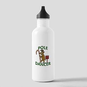 Funny Dancer Christmas Reindeer Pun Water Bottle