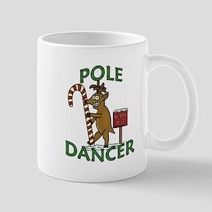 Funny Dancer Christmas Reindeer Pun Mugs