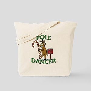 Funny Dancer Christmas Reindeer Pun Tote Bag