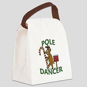 Funny Dancer Christmas Reindeer Pun Canvas Lunch B