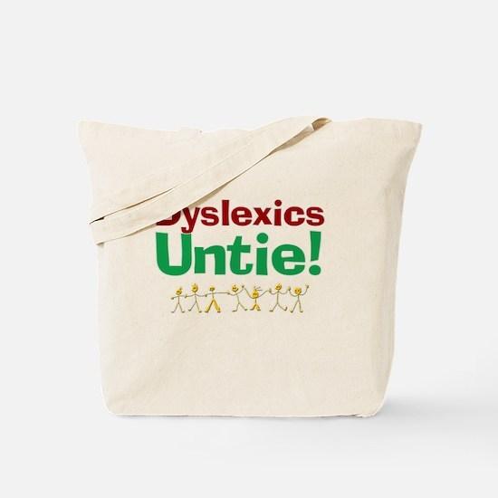 Dyslexics Untie! Tote Bag