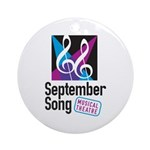 Official September Song Logo Ornament (round)