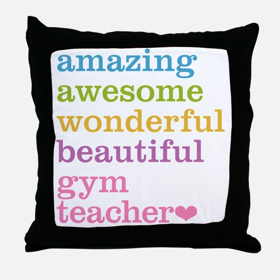 Gym Teacher Throw Pillow
