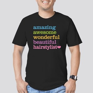 Hairstylist Men's Fitted T-Shirt (dark)