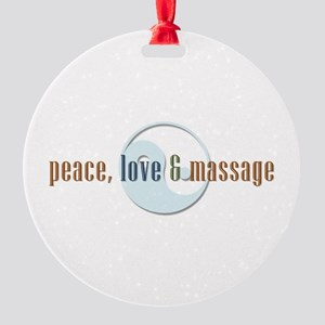 Peace, Love and Massage Ornament