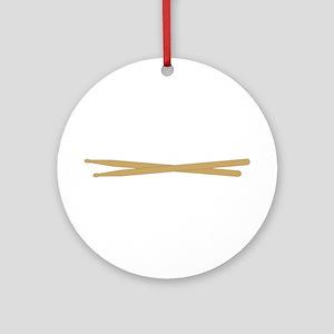 Drum Sticks Ornament (Round)