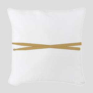 Drum Sticks Woven Throw Pillow