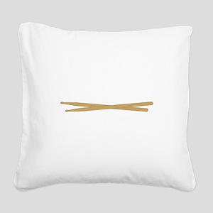 Drum Sticks Square Canvas Pillow